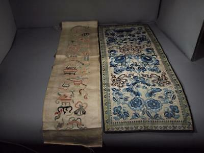 Two Chinese Qing Dynasty Embroidered Sleeves