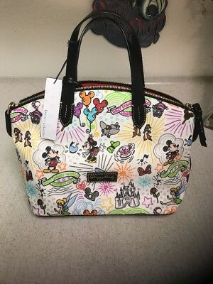 Disney Parks Disney Sketch Nylon Zip Satchel by Dooney & Bourke New with Tag