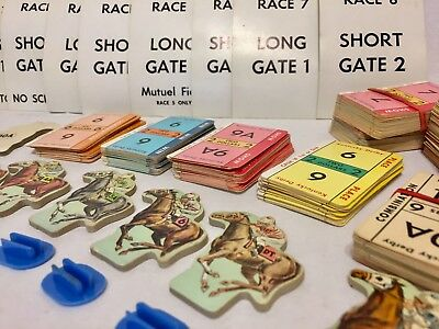 Vintage Kentucky Derby Card Game Horse Pawns Cards Only