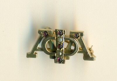 Rare Exclusive Alpha Phi Alpha gold jeweled fraternity pin - Dr. Newkirk - Wow!