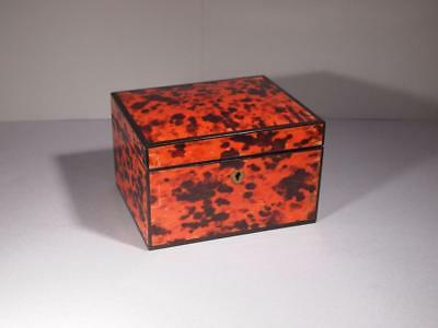 Beautiful Antique Faux Tortoiseshell and Rosewood Box