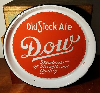 Vintage Dow Old Stock Ale Montreal, Quebec Porcelain Advertising Beer Tray