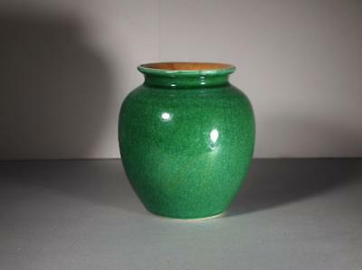 Chinese Qing Dynasty Apple Green Ge-Ware Jar