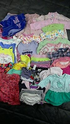 LOT Baby Girls Size 0-18months 43Pc Fall Winter Spring Outfits Clothes sleepers