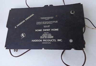 Vintage Haddon Rocking Grandmother Home Sweet Home Clock Back Panel