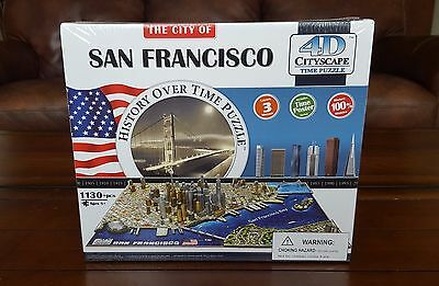 San Francisco 4D Cityscape History Over Time Puzzle 1130+ Pieces NEW!