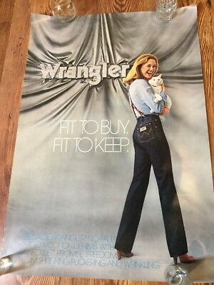 Vintage Wrangler Jeans Advertising Poster Fit To Buy Original P1-18