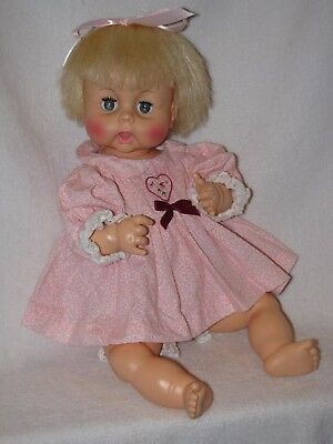 """Vintage 18"""" Horsman Thirsty Baby Doll"""