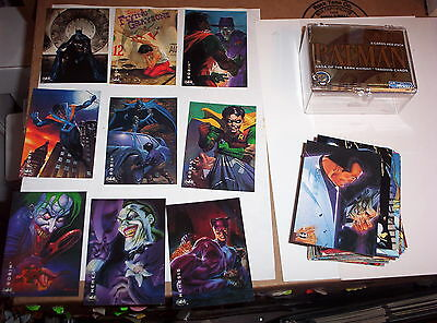 1994 SkyBox Batman Saga of the Dark Knight 100 Base Card Set! SUPERMAN! ROBIN!!