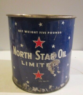 Vintage North Star 5 Lbs Empty Grease Tin