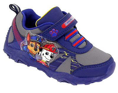 PAW Patrol Light Up Sneakers Toddler Boys shoes size 12 navy Easy put on and Off