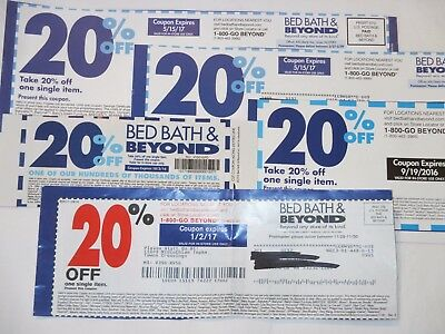 Lot of 10 BED, BATH & BEYOND COUPONS - 20% OFF Single Item COUPONS Discount Save