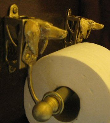 SALUKI Bronze Toilet Paper Holder OR Paper Towel Holder!