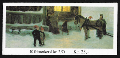 Norway Stamps -Booklet of 10 -1983, Christmas: Painting #832a -MNH -Lot 6043