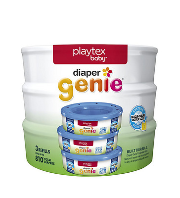 Playtex Diaper Genie Baby Diaper Pail System Refills, 3 pack