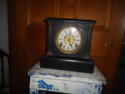 Antique The Sessions Clock Co, Forrestville Connecticut USA 1900s Wooden Gold