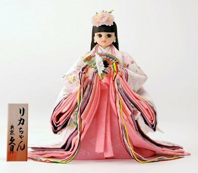 Takara TOMY Licca Doll Standing Hina Doll White Rika chan Doll from Japan F/S