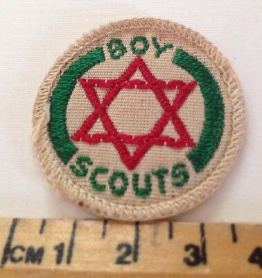 Vintage Boy Scouts (Star Of St David) Linen Backed Scout Badge