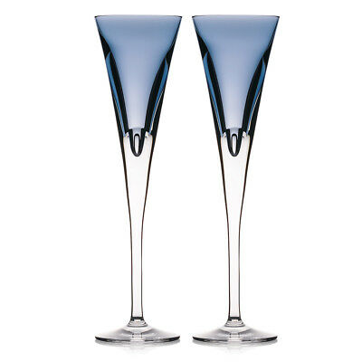 NEW Waterford W Collection Sky Flute Set 2pce