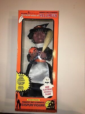 """Telco Motionette Animated Witch 20"""" Lights 1989 With Box Very Rare"""