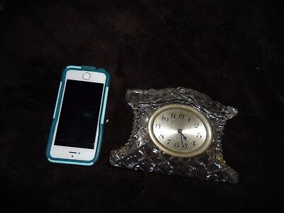 Antique crystal art deco alarm mantle clock