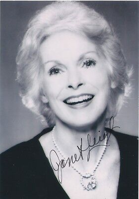 Janet Leigh Movie Legend Psycho Actress Rare Signed Photo Coa