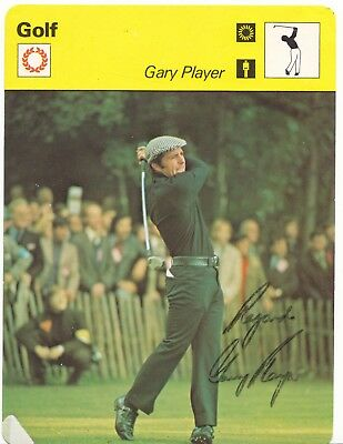 Gary Player Golf Legend Rare Signed Sportcaster Card Coa Jsa