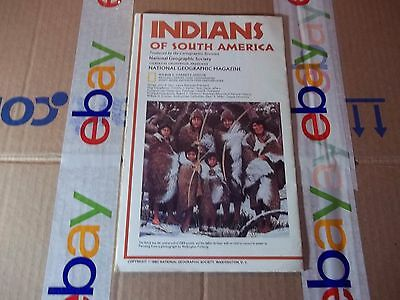 vintage map, National Geographic map Indians of South America 1982
