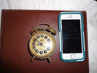 Antique Sussex bedside alarm clock Made in West Germany