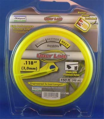 """46 Metre ROLL of 3.0mm NYLON WHIPPER TRIMMER CORD """"UGLY LINE"""" Shakespeare USA"""