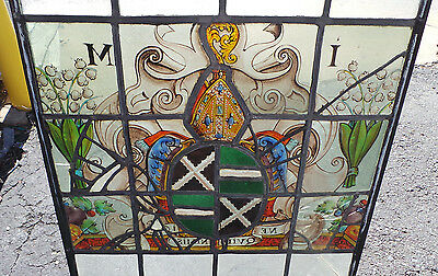 Antique Stainted Glass Panel From Germany