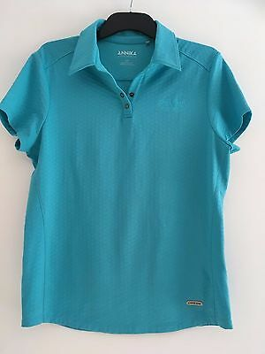 ANNIKA Cutter & Buck Ladies Polo, Turquoise, Size M/M, Great Condition