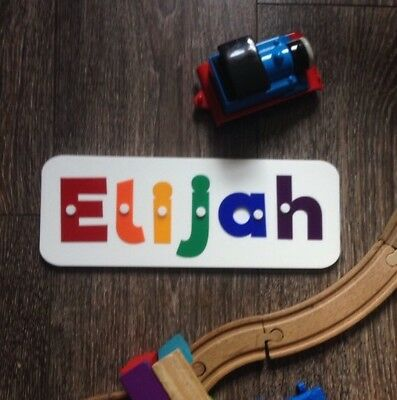 Wood/plastic Preschool Learning Jigsaw Name Puzzle With Pegs