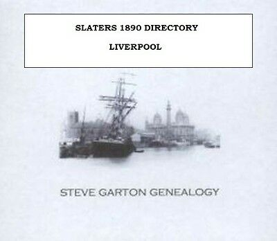 Slaters 1890 Directory Of Liverpool