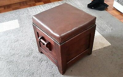 Antique Fireside Wood Box