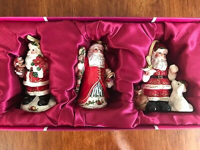 Set of three Royal Albert Santas