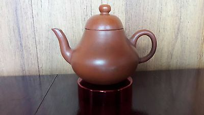 Antique Chinese Yixing Zisha Clay Pottery Teapot With 4 Chinese Characters Mark