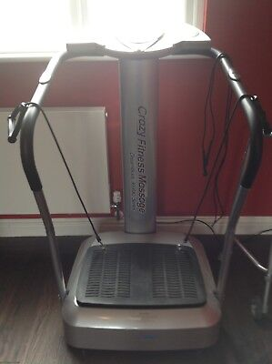 Crazy Fitness Massage Vibration plate - Used. With user manual
