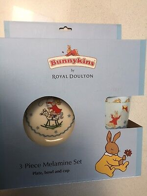 Bunnykins Plate Bowl and Cup Set