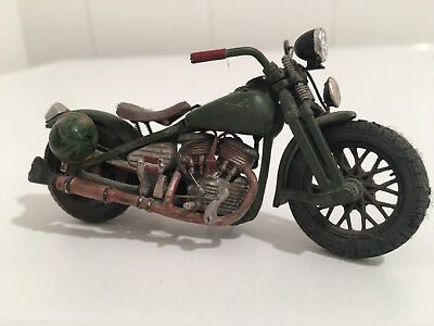 Harley Davidson WLA Bobber 1/24 Maisto Custom Bike Motorcycle Hot Rod Rat