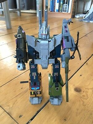 G1 Transformers Bruticus / Combaticons x 5 - complete with all weapons & parts