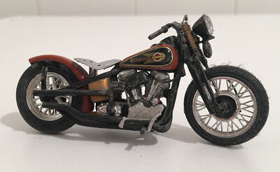 Harley 1936 Knucklehead Bobber 1/24 Maisto Custom Bike Motorcycle Hot Rod Rat