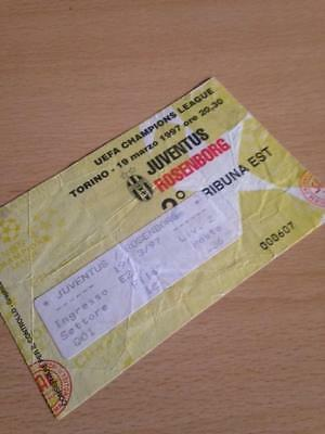 1996/97 Juventus V Rosenborg - Champions League - Used Ticket