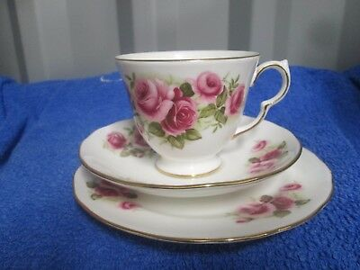 Queen Anne Bone China Trio Cup Saucer and side plate