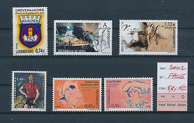 LH09456 Luxembourg 2002 nice lot of stamps MNH face value 5,91 EUR
