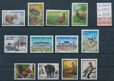 LH09457 Luxembourg 2002 animals wildlife fine lot MNH face value 9,6 EUR