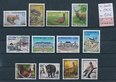 LH09460 Luxembourg 2002 animals wildlife fine lot MNH face value 9,6 EUR
