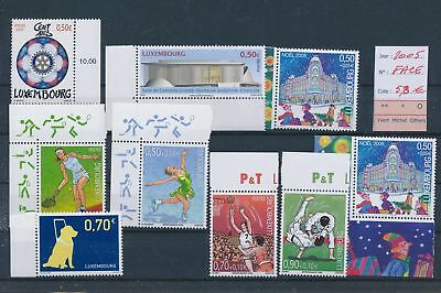 LH09486 Luxembourg 2005 nice lot of stamps MNH face value 5,8 EUR