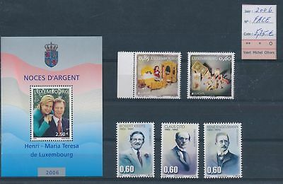 LH09496 Luxembourg 2006 nice lot of stamps MNH face value 5,75 EUR