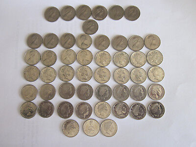 5 cent coin set 1966 to 2016, includes 1972